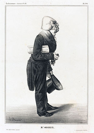 """Antoine Odier - """"M. Odieux"""" (Odier) by Honoré Daumier from La Caricature 1833"""