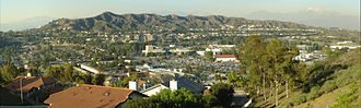 Walnut, California - View of Mt. San Antonio College and surrounding area