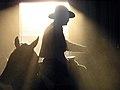 Mules and rider, Peter Murphy (5352568320).jpg