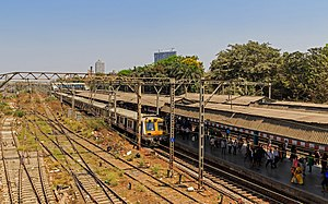 Parel railway station - Image: Mumbai 03 2016 85 Parel station