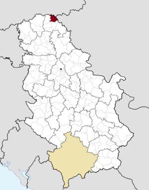 Novi Kneževac - Image: Municipalities of Serbia Novi Kneževac