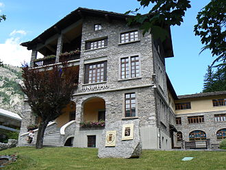 Courmayeur - the Town Hall.