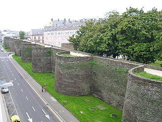 Roman walls of Lugo - Image: Muralla romana de Lugo