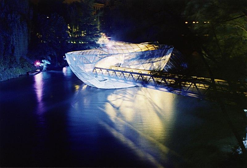 Murinsel-Graz-Nacht