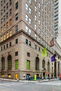 Museum of American Finance at William and Wall Streets in lower Manhattan by Alan Barnett.jpg