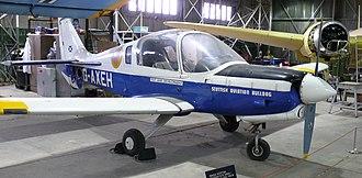 Scottish Aviation Bulldog - The prototype Bulldog G-AXEH in the National Museum of Flight