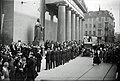 Musikalsk mindehøjtidelighed ved Carl Nielsens begravelse, Nørregade, København, d. 9. oktober 1931.jpg