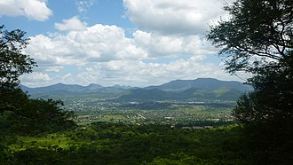 Mutare - Mutare Area Viewed from Christmas Pass