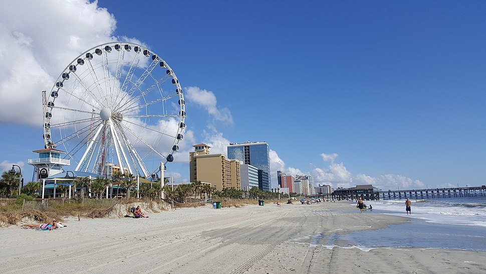 The Myrtle Beach ferris wheel