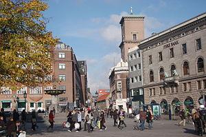 Nørregade - A view down Nørregade from Gammeltorv