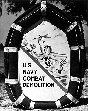 Underwater Demolition Team - U.S. Naval Combat Demolition insignia. -   U.S. Navy Seal Museum