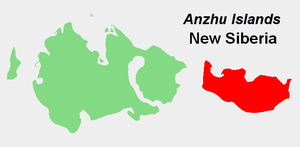 New Siberia - Location of New Siberia in the Anzhu subgroup