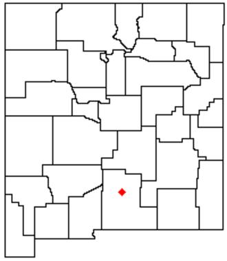 Sacramento Mountains (New Mexico) - Image: NM Map doton Sacramento Mtns
