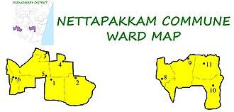 Nettapakkam Commune - Image: NPK Wards