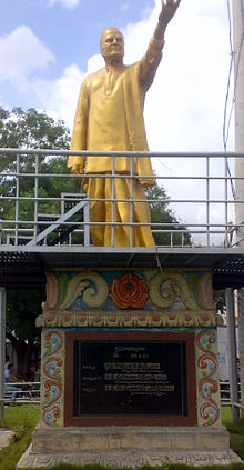 A photograph of the statue of N. T. Rama Rao