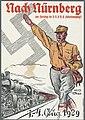 Nach Nürnberg zum Parteitag der N.S.D.A.P. (Hitlerbewegung)! 1.-4. August 1929 Hans Turba Nazi Party propaganda postcard No known copyright restriction 02.jpg