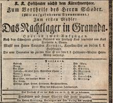 Poster of the opera Das Nachtlager von Granada. (Source: Wikimedia)