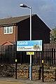Name board, Rainhill railway station (geograph 3819323).jpg