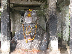 Nandi Hills, India - Nandi (Nellikai Basavanna) at the hills