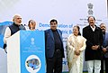 Narendra Modi addressing at a function for Demonstration of Retrofit Electric Bus, at Parliament House, in New Delhi on December 21, 2015. The Speaker, Lok Sabha, Smt. Sumitra Mahajan and the Union Ministers are also seen.jpg