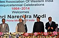 Narendra Modi at Sesquicentennial function of Advocates' Association of Western India, in Mumbai, Maharashtra. The Governor of Maharashtra, Shri C. Vidyasagar Rao and the Chief Minister of Maharashtra.jpg