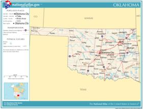 Mountains In Oklahoma Map.Oklahoma Wikipedia
