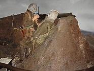 National Army Museum WWI machine gunners display