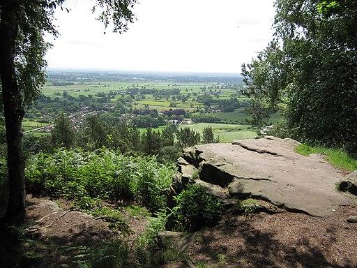 Natural viewing platform, Bulkeley Hill - geograph.org.uk - 2333767