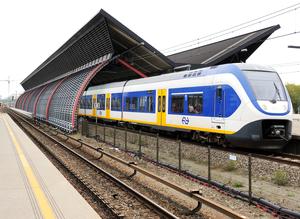 Amsterdam RAI station - Image: Netherlands Railway train at Station RAI