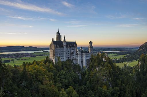 Neuschwanstein at sunset