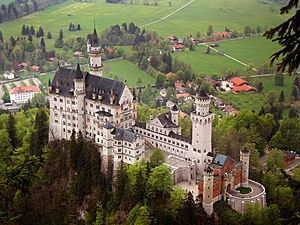 The Neuschwanstein castle.