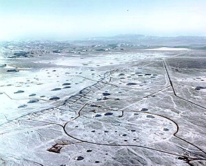 Nuclear weapon design - Subsidence Craters at Yucca Flat, Nevada Test Site.