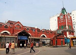 New Market, Kolkata - New Market Entrance, Lindsey Street