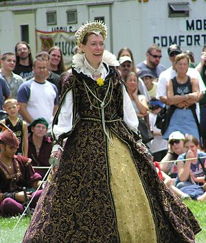 New York Renaissance Faire - Ann Alford as Queen Elizabeth I at the New York Renaissance Faire.