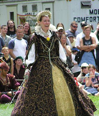 New York Renaissance Faire - Ann Alford as Queen Elizabeth I at the New York Renaissance Faire.