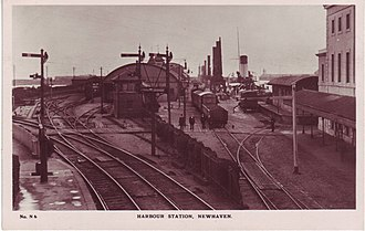 Port of Newhaven - A view of Newhaven Harbour railway station, taken sometime in the early 1900s
