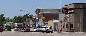 Newman Grove, Nebraska - Downtown Newman Grove: north side of Hale Avenue