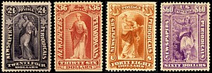 Newspaper stamp - Image: Newspapers periodicals set 4 1879