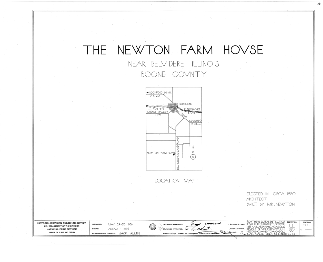 Illinois boone county belvidere - File Newton Farmhouse Belvidere Kirkland Road Belvidere Boone County Il Habs Ill 4 1 Sheet 0 Of 1 Png