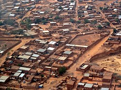 Aerial view of Niamey