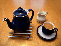 A nice cup of tea (and a sit down). A Denby te...