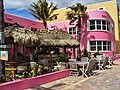 Nice pink hotel on the Broadwalk. Gentil petit hotel rose à Hollywood Beach, Floride - panoramio.jpg