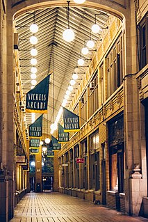 Nickels Arcade commercial building located at 326-330 South State Street in Ann Arbor, Michigan