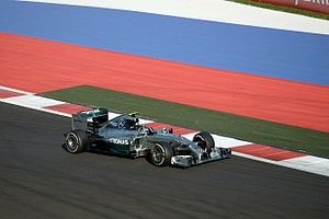 2014 Russian Grand Prix - Mercedes secured their fifteenth pole position in sixteen Grands Prix and their eighth front-row lock-out of the season in Sochi.