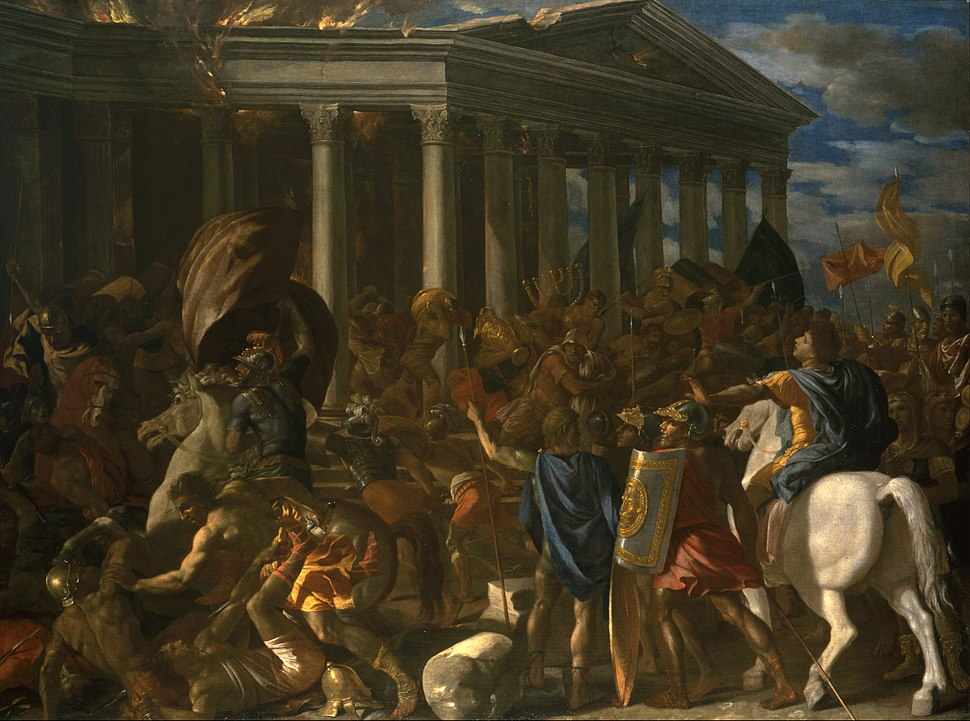 Nicolas Poussin - The Destruction and Sack of the Temple of Jerusalem - Google Art Project