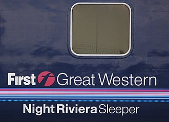 Night Riviera - Night Riviera branding with the former First Great Western brand
