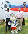 Nikolay Kudashev at a Football Tournament for Diplomatic Community ahead of the FIFA World Cup 2018, in New Delhi.JPG