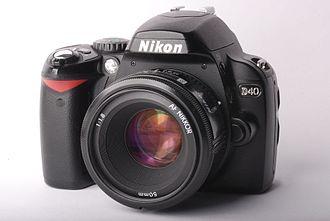Nikon D40 - Image: Nikon D40 with Nikkor 50 f 1.8 AF