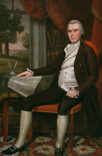 Noah Smith (judge) - 1798 portrait by Ralph Earl.  Original oil on canvas, 64 1/4 x 42 1/4 inches.  Part of the collections of the Art Institute of Chicago.