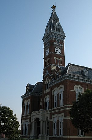 Nodaway County, Missouri - Nodaway County Courthouse is on the National Register of Historic Places